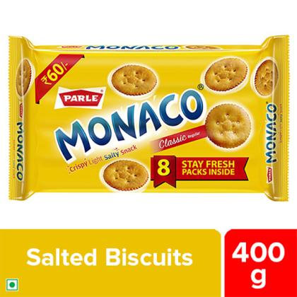 Parle Monaco Classic Regular Salted Biscuits 400 g Parle Monaco Classic Regular