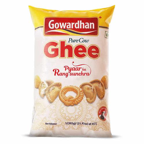 Gowardhan Pure Cow Ghee Pouch : 1 Litre