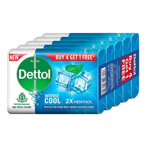 Dettol Intense Cool 2X Menthol Soap : 4x125 gms