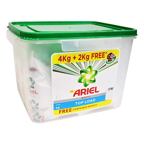 Ariel Matic Top Load Detergent Washing Powder With Container : 4 kgs