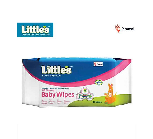 Little's Soft Cleansing Baby Wipe : 80 Wipes