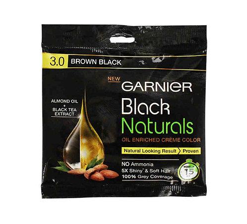 Garnier Brown black 3.0 Natural Cream  Hair Colour-60ml+50gm:1 unit