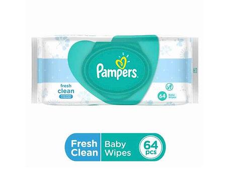 Pampers Fresh Clean Baby Wipe : 64 Wipes