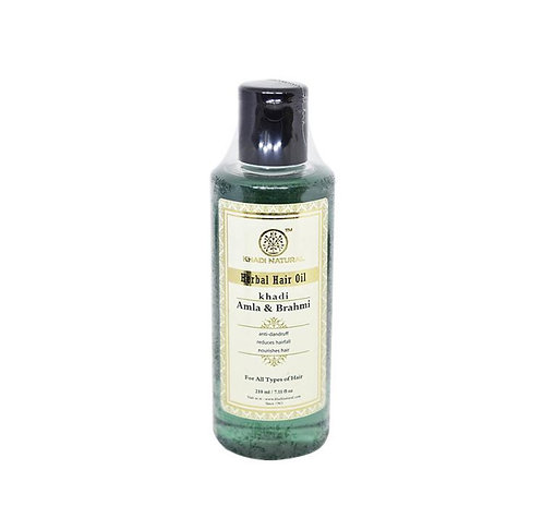 Khadi Natural Amla & Brahmi Herbal hair Oil: 210 ml