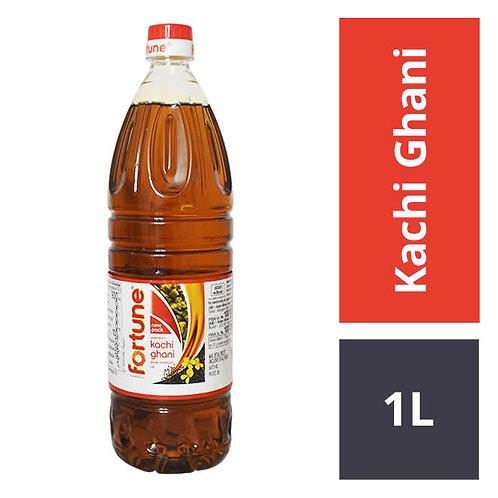 Fortune Kachi Ghani Mustard Oil Bottle : 1 Litre