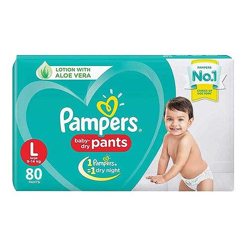 Pampers Baby Dry Pants - Large : 80 U