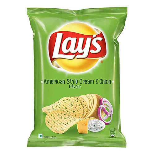 Lay's American Style Cream & Onion Flavour Chips : 90 gms