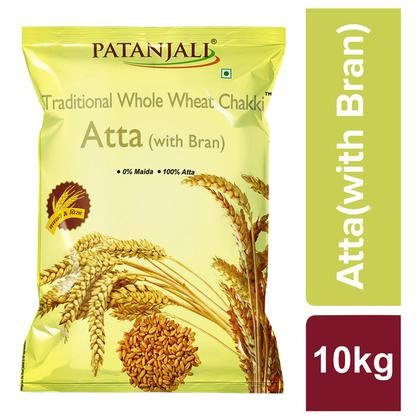 Patanjali Traditional Chakki Whole Wheat With Bran Atta 10 kg