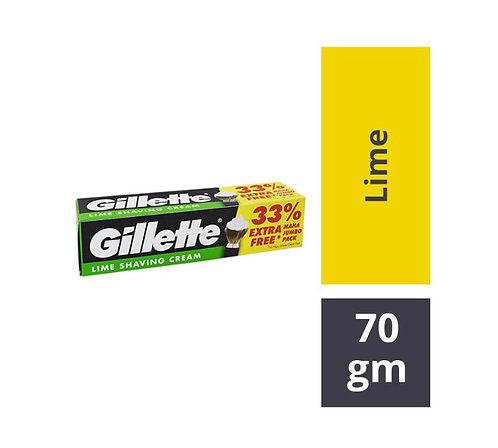 Gillette shaving Cream - Lime : 70 gms