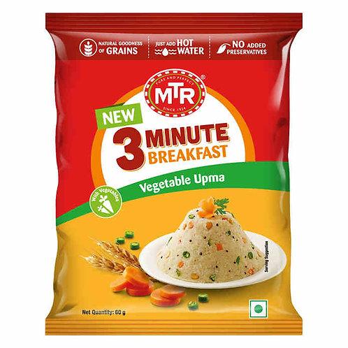 MTR 3 Minute Breakfast Vegetable Upma : 60 gms