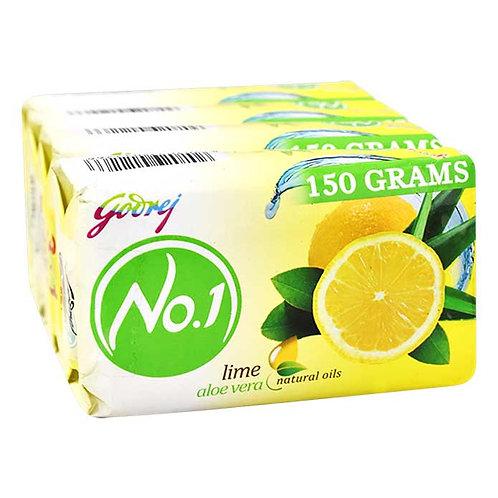 Godrej No. 1 Lime & Aloe Vera Soap : 3x150 gms