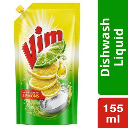 Vim Lemon Concentrated Dishwash Gel 155 ml