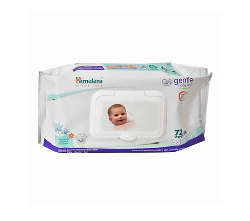 Himalaya Gentle Baby Wipe : 72 Wipes