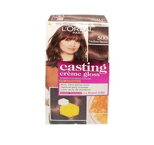 L'Oreal Casting Cream Gloss 500 MediumBrown Hair Colour - 87.5 gms+72ml : 1 unit