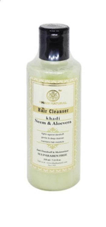 Khadi Natural Neem & Aloevera Hair Clenser : 210ml