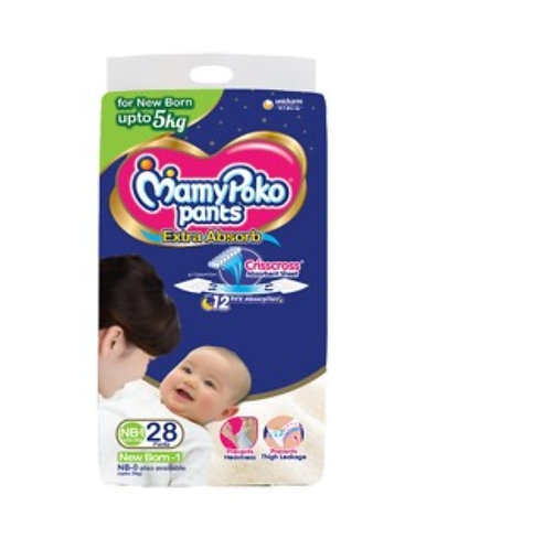 Mamy Poko Pants Extra Absorb New Born-1 : 28 U