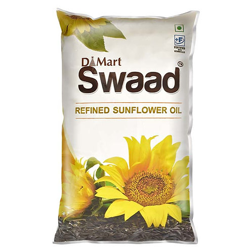 Swaad Refined Sunflower Oil : 1 Litre