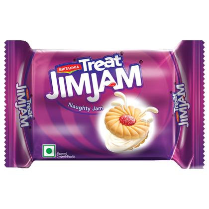 Britannia Treat Jim Jam Cream Biscuits 150 g