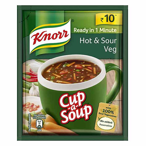Knorr Hot & Sour Veg Cup-A-Soup : 11 gms