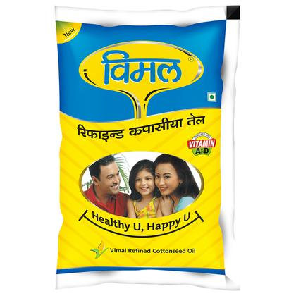 Vimal Refined Cottonseed Oil 1 L (Pouch)