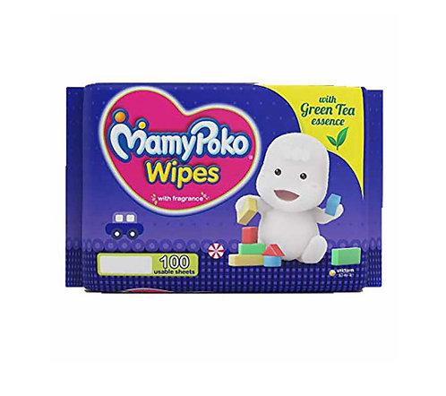 Mamy Poko Wipes - Green Tea Essence : 100U