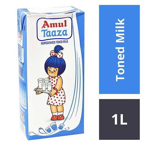 Amul Taaza Toned Milk : 1 L