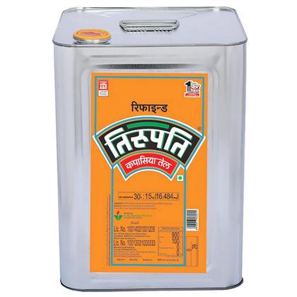 Tirupati Refined Cottonseed Oil 15 kg (Tin)