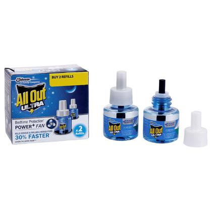 All Out Ultra Power+ Fan Mosquito Repellent Refill 45 ml (Pack of 2)