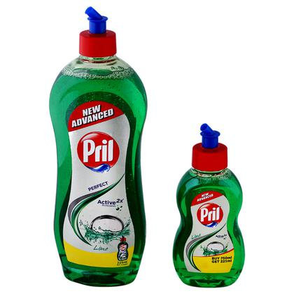 Pril Active Lime Dishwash Liquid 750 ml