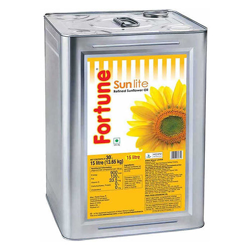 Fortune Refined Sunflower Oil Tin : 15 Litres