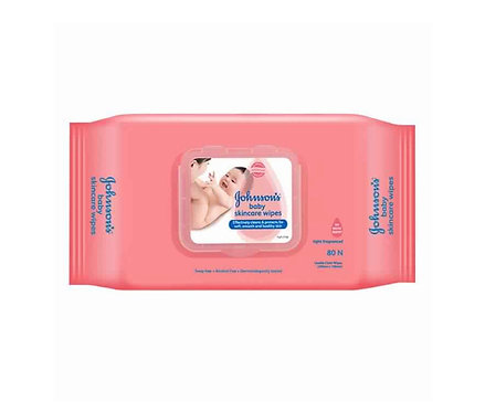 Johnson's Baby Skincare Wipe : 80 Wipes