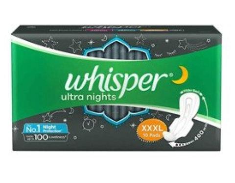 Whisper Ultra Nights XXXL Pads : 10U