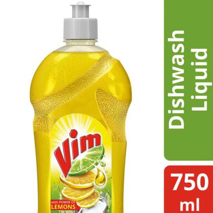 Vim Lemon Concentrated Dishwash Gel 750 ml