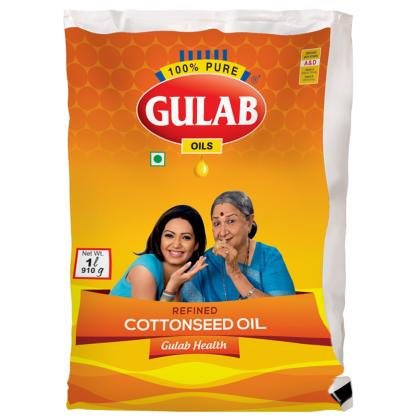 Gulab Health Refined Cottonseed Oil 1 L (Pouch)