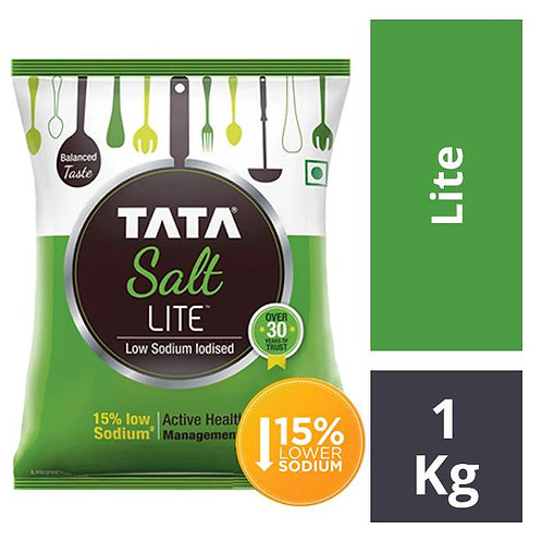 Tata Salt Lite - Low Sodium Iodised : 1 kg