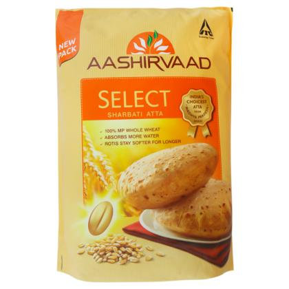 Aashirvaad Select Sharbati Whole Wheat Atta 5 kg