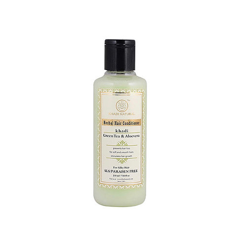 Khadi Natural Green Tea & Alovera Hair Conditioner: 210ml