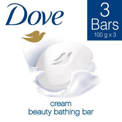 Dove Cream Beauty Bathing Soap 100 g (Pack of 3