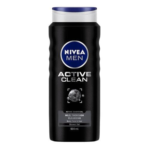 Nivea Men Active Clean Shower Gel : 500 ml