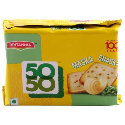Britannia 50 50 Maska Chaska Biscuits 120 g