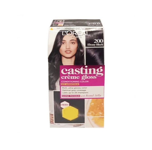 L'Oreal Casting Cream Gloss 200 Ebony Hair Colour - 87.5 gms+72ml : 1 unit