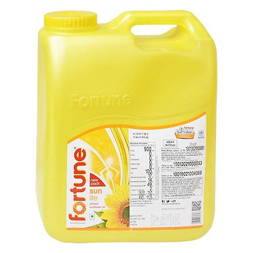Fortune Sunlite Refined Sunflower Oil : 15 Litres