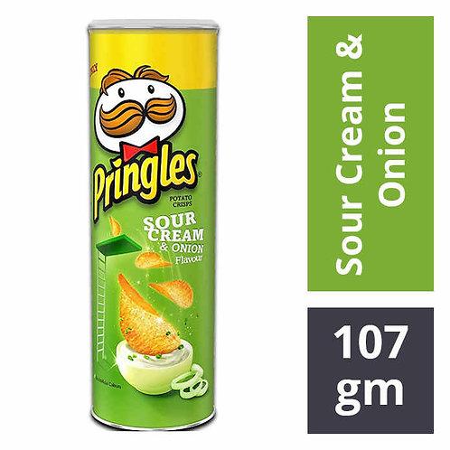 Pringles Potato Chips - Sour Cream & Onion : 107 gms
