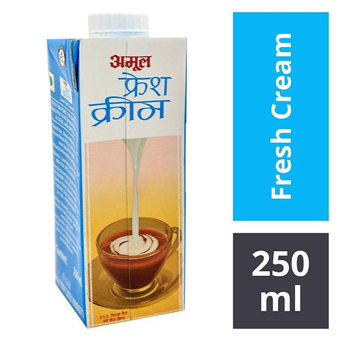 Amul Fresh Cream : 250 ml