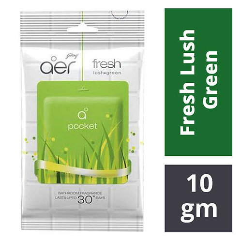 Godrej Aer Bathroom Fragrance - Fresh Lush Green : 10 gms