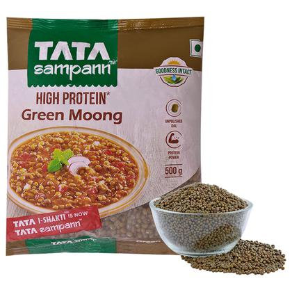 Tata Sampann High Protein Moong Whole 500 g
