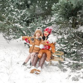 Sesja rodzinna,zimowa