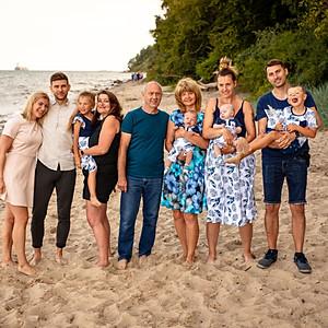 Sesja rodzinna na plaży