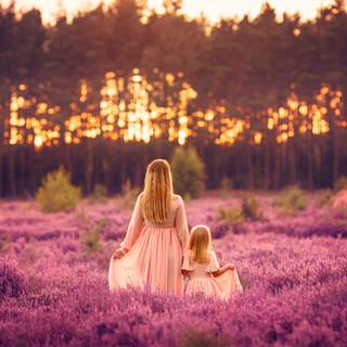 mama i córka, wrzosy