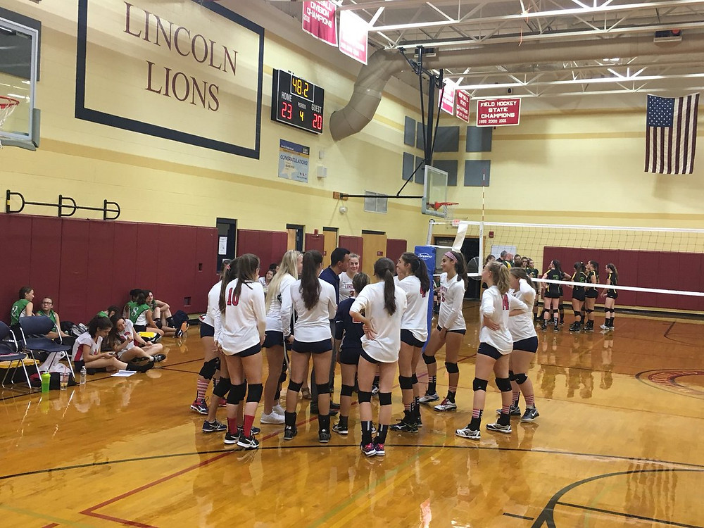 The LHS girls volleyball team beat North Smithfield to bring their record to a perfect 6-0!